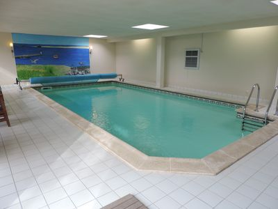 Photo for Home and heated indoor pool with sauna, wifi