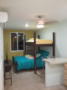 Photo for Studio apt to rent 4 km from ocean, in quiet suburb of Puerto Morelos.
