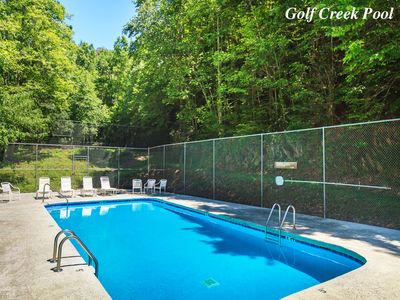 2 swimming areas to choose from - Because Rustic Charm is within Gatlinburg's private Cobbly Nob neighborhood—itself set within a 1,000-acre resort—during the summer you'll have free access to 2 pool areas.