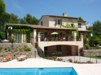 Photo for Valbonne Holiday Villa.  Spacious villa with a comfortable and very private feel