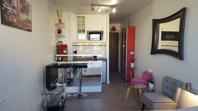 Photo for Charming apartment with terrace in the heart of Paris, quiet (Mouffetard)