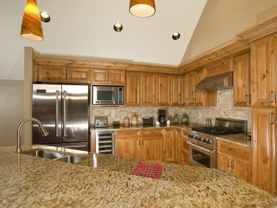 Fully equipped kitchen with top of the line appliances.