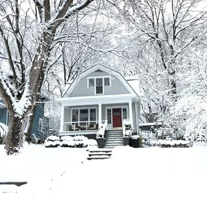Beautiful snow blanket makes this home a picture perfect destination