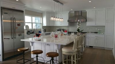 Photo for Perfect family home. 1 block to beach! detached town-home with ocean views