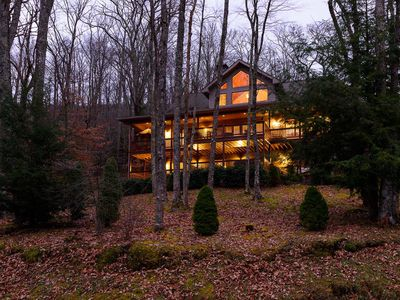 Photo for Expansive 4BR Mountain Home with Views, Suites, Hot Tub, Firepit, Near Sugar Mtn. & Ski Beech!