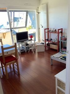 Photo for Large bright Studio 36m2 located 100m from the beach and 300m from the city center