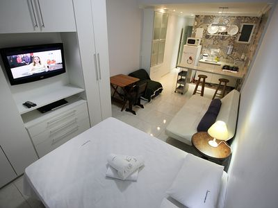 Photo for Rio Spot Homes C035 Large and renovated apartment block of Copacabana beach