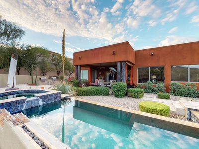 Photo for Gorgeous dog-friendly home w/ private pool, pool spa, & fire pit!
