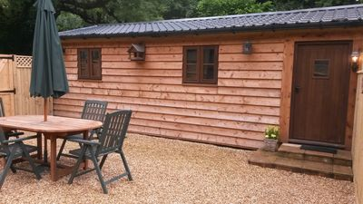 Photo for Chewton Glen East Lodge - New Forest Self Catering Luxury Log Cabin Close to Sea