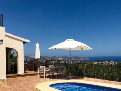 Photo for Beautiful villa in Pedramala with amazing sea view from Moraira to Calp