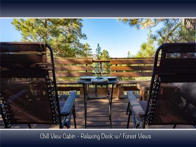 Photo for Chill View Cabin - WiFi, Netflix and Deck with Forest Views! FREE 2 hour Bike/Kayak Rental!