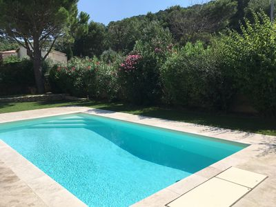 Photo for Villa 4 * in calm air-conditioned with swimming pool close to Cassis, Calanques, beaches