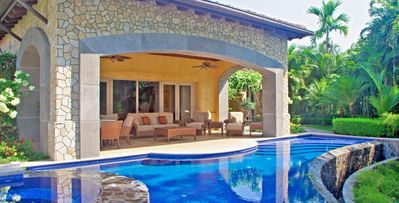 Photo for 4 bedroom villa offers comfort in a lush tropical environment