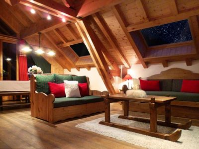 Photo for Wifi, 300m from shops, balcony, fireplace or stove, parking, tv, ski locker, 120m², Valloire