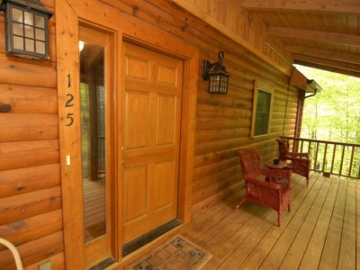 Photo for Other Side of the Mountain is a secluded lakefront vacation cabin on Norris Lake in the Lone Mountai