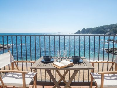 Photo for LES FORMIGUES 2-seafront apartment-Calella de Palafrugell-Costa Brava