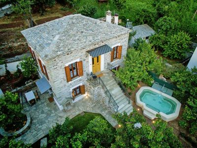 Photo for This 3-bedroom villa for up to 8 guests is located in Pelion and has a private swimming pool and Wi-