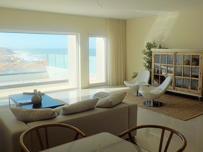 "Spacious living room with a spectacular relaxing view ""Casas da Arriba N5"""