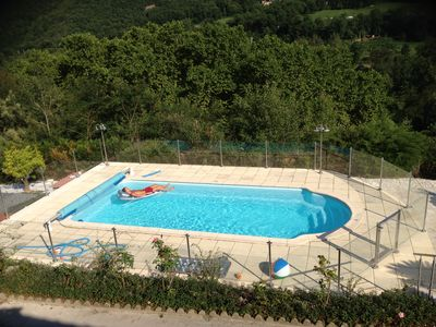 Pool with approved security fence and gate