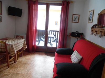 Photo for Surface area : about 19 m². 2nd floor. Orientation : South. Living room with sofa bed