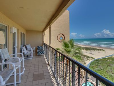 Photo for Beachfront condo with ocean views, shared pool, hot tub, and tennis courts