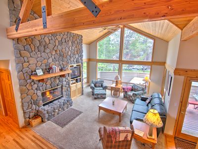 Photo for Walk to Village, Gas Fireplace, 4 Bdrm Lodge Style Home, Hot Tub - RHOD09