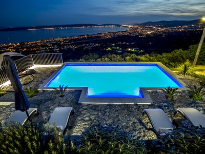 Photo for Hill View is Dalmatian house with heated pool in Kaštela between Split & Trogir