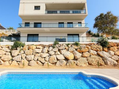 Photo for Cosy apartment for 8 guests with private pool, A/C, WIFI, TV, balcony and parking
