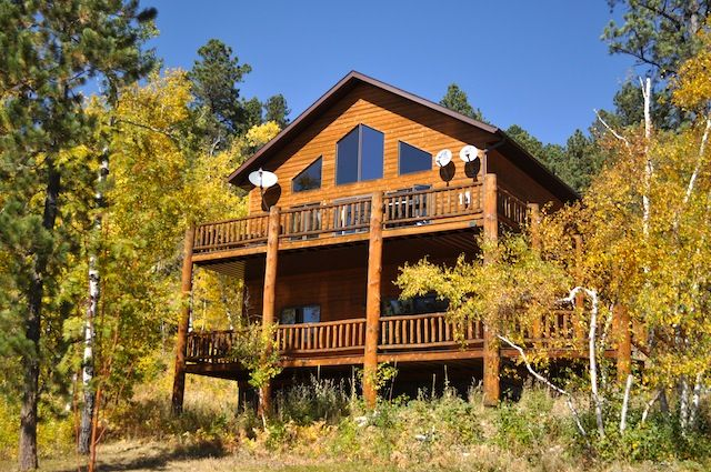 Luxury 3br lead cabin in the black hills w gorgeous views for Cabine black hills south dakota