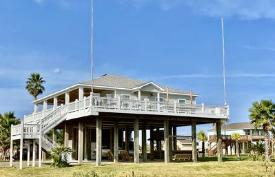 Photo for HAPPY PLACE - Beautiful home, giant deck, easy beach access, gulf view