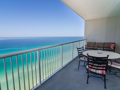 Your balcony overlooking the shimmering emerald waters!