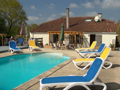 Photo for Great family  country house  within easy reach of the sea. Large pool and  patio