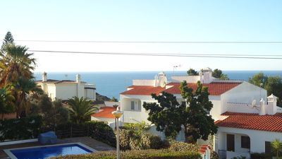 Photo for Sea View 2 bed apartment, pool, 5 minutes walking to Carvoeiro, very quiet area