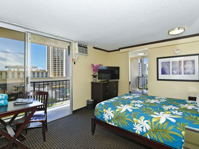 Photo for Gorgeous! Highly Desirable Queen Studio with Balcony overlooking Pool
