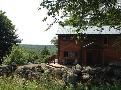 """""""Stonewall Cabin"""" is a Conestoga secluded home with a private pond in Eagles Mere"""