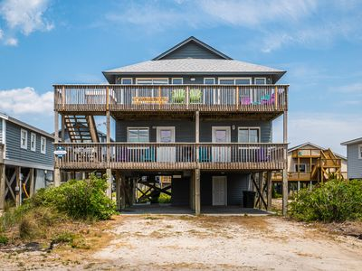 Photo for TURTLE SANCTUARY: 4 BR / 3 BA  beautiful ocean views in Topsail Beach, Sleeps 8