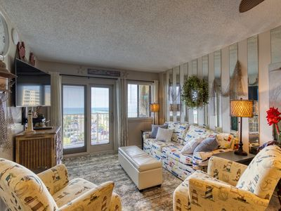 Photo for NEW LISTING! Freshly renovated gulf-side condo w/shared pools, hot tub