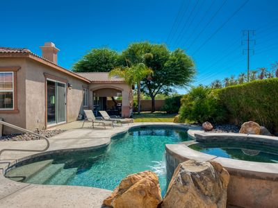 Photo for Private Grand Scale Gorgeous Home, Pool & Spa Mountain Views, Gated Community