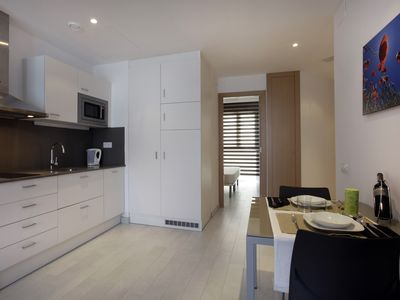 Photo for 1 bedroom apartment for 4 people with sofa bed, near Camp Nou 1º3º
