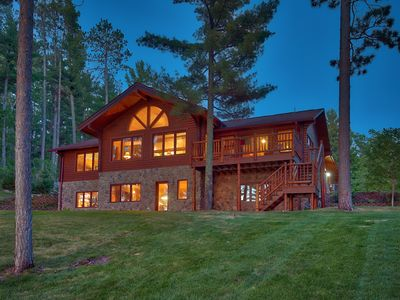 Photo for Log home nestled in the Pines, overlooking beautiful Lake May.