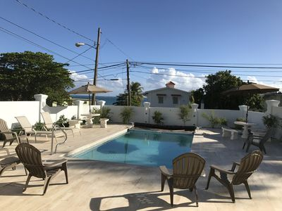 BRAND NEW heated pool at Casa Wurster across the street from Beach Bliss