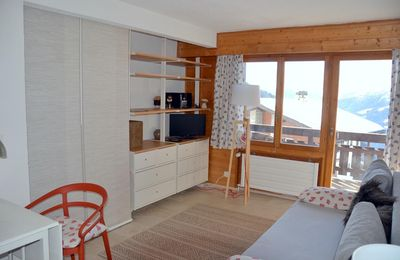 Photo for Outside : studio in Chandolin, for  1-2 persons, on the 2nd floor of an apartment house, elevator, s