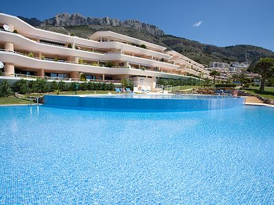 Photo for Bernia Apartment, Sleeps 4 with Pool, Air Con and Free WiFi