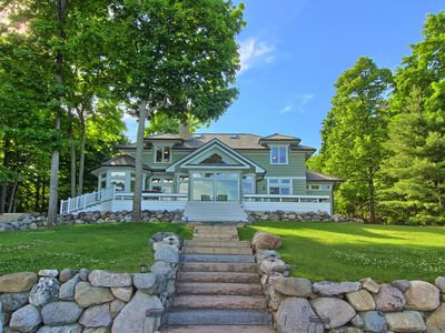 Photo for Lake Charlevoix Estate with Private Guest House in Exclusive Community