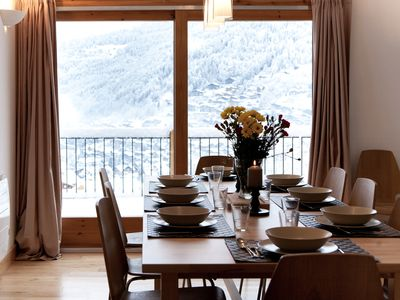 Photo for A modern 6 bedroom, 6 bathroom chalet, outdoor hot tub, and beautiful views.