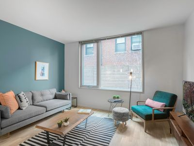 Photo for Cozy + Bright South End 1BR w/ Gym + Roof Deck by Blueground