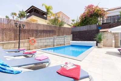 Private heated pool and terrace