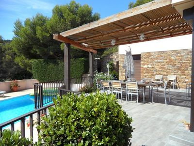 Photo for DOMAINE DU GAOU BENAT - BEAUTIFUL SEA VIEWS. SWIMMING POOL and JACCUZZI .VILLA 8 Pers.