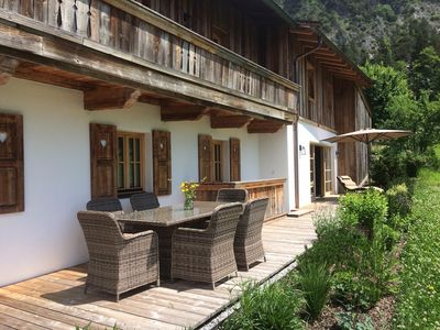 Large Patio over the whole length of the Chalet