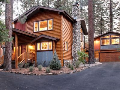 Photo for BASECAMP- Luxury and Stylish Mountain Cabin, 5bdrms, 3 Fireplaces, Hot Tub